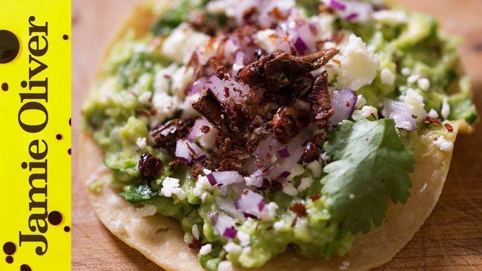 Grasshopper & Guacamole Tostadas