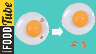 How to remove broken egg shell: Jamie Oliver