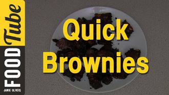 Super quick brownies: Jamie Oliver